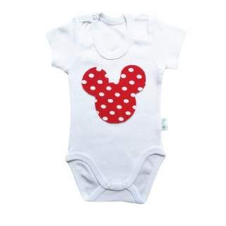 Body maneca scurta alb Minnie