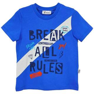 Tricou baieti BREAK ALL RULES blue