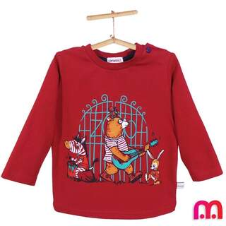 Bluza bebe maneca lunga PLAY bordo