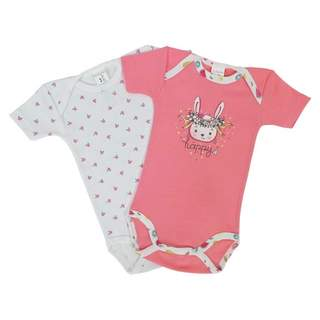 Set body maneca scurta PINK RABBIT 1-3 ANI
